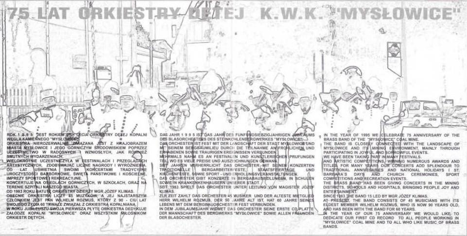 """75 Lat Orkiestry Dętej Kopalni Węgla Kamiennego """"Mysłowice"""""""