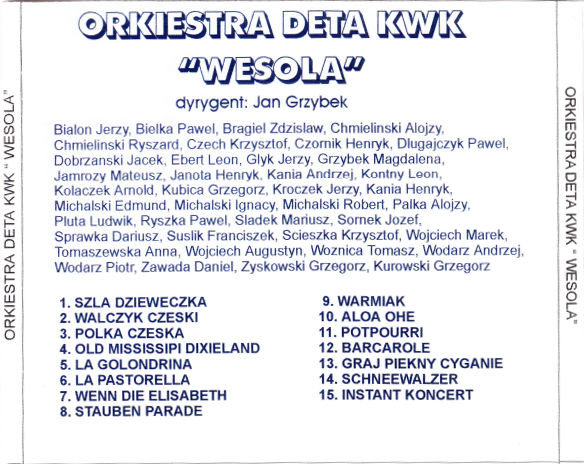 """Kaseta Magnetofonowa Orkiestry Dętej Kopalni Węgla Kamiennego """"Wesoła"""""""